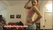 Hot striptease by czech redhead teen video