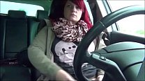 Chunky Milf Redhead Pleasing Herself In The Car