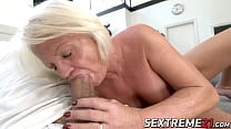 Kinky Anett has pussy pumped with young dick after BJ porn image