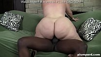 Interracial sex with fat blonde bbw and afro cock