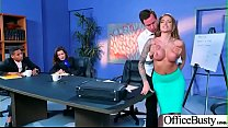 Hard Bang On Cam In Office With Big Round Tits Girl (Juelz Ventura) video-14