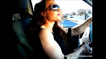 Learning To Drive With BrandiMae Muscle! EroticMuscleVideos