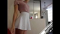 Can you guess what behind the skirt? full video...