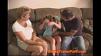 Milf and Hubby fuck their sweet baby Sitter