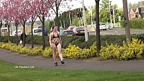 Isabel Deans public flashing and outdoor voyeur masturbation of chubby babe dild image