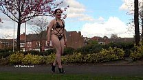 Isabel Deans public flashing and outdoor voyeur masturbation of chubby babe dild Preview