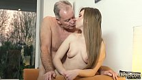 11701 OMG My dad fucks young cleaning lady after she seduces him with his tight pussy and sexy outfit she sucks his cock and lets the daddy fuck her wet pussy hardcore on the couch preview