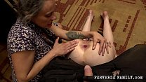 Perverse Family Mom With Her Son Punished Naughty Daughter