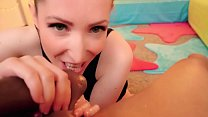 Candy May - SLOPPY BBC BLOWJOB / BALLS EATING thumb