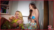 GIRLS GONE WILD - Two Young Lesbians Get Hot and Heavy With Each Other