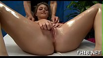 Hot chick just lowers her head and starts perfo...