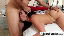 Sexy rough fuck with Alison Tyler and a hung spanish stud thumbnail