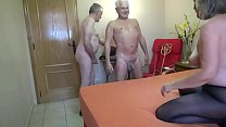 Mature with two horny men thumb