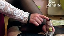 Miss Adrastea`s Sissy bitch trapped in chastity and stockings!