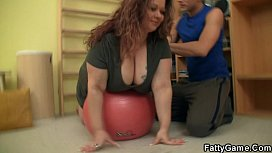 Fitness instructor bangs BBW...