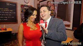 Ava Addams plays with...