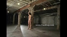 Tied indonesian slave used...