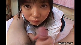 Young japanese teen gives...