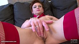 Petite mature gets her...