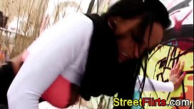 STREETFLIRTS.com outdoor interracial