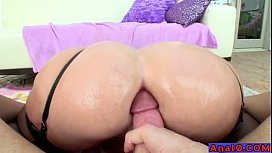 Mature in glasses anal...