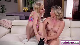 Busty milf pleases her slut stepdaughter