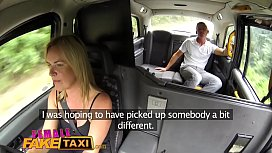 Female Fake Taxi Busty blondes hot cab creampie with stud husband