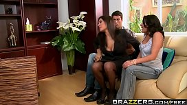 Brazzers - Real Wife Stories - Threesome Therapy scene starring Charley Chase Raylene and Ramon