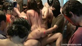 WIFES DREAM COMES TRUE AT CZECH GANG BANG