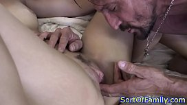 Ebony stepdaughter doggystyle pussyfucked...