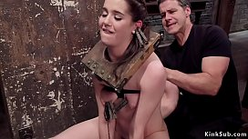 Hairy trainee gets clamped cunt fucked