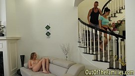 Teen stepdaughters 3way