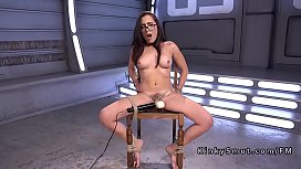 Tied up babe anal...