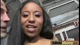 Ebony girlfriend takes huge...