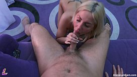 Tanned MILF Blowjob and...