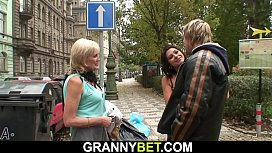 Old granny prostitute is...