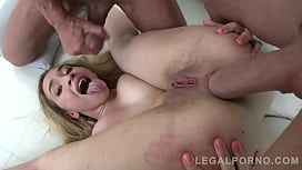 Big butt blonde Briana Banderas shows off her prolapse after double anal