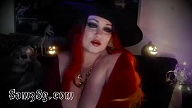 Wicked Witch on cam chatting up fans