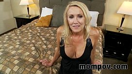 Blonde milf gets a...