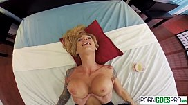 PornGoesPro - Sarah Jessie is punished by a monster cock, big boobs &amp_ massage