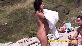 Curly Nudist Beach Female Voyeur Amateur Video