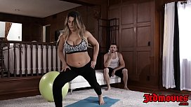 Stunning MILF Makayla Cox fed cum after pounding exercise