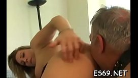 Insatiable girl cums from phallus riding