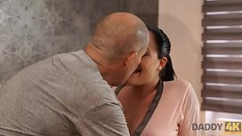 DADDY4K. Dirty girl allows BF'_s daddy ejaculate on her pretty face