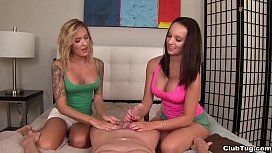 Hot ladies tag handjob...