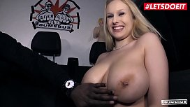 LETSDOEIT - Busty German Blondie Angel Wicky Gives Titjob And Takes BBC On The Bus