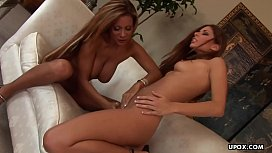 Demi Delia and Cauton Caley are moaning while cumming