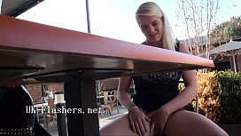 Flashing blondes outdoor masturbation...