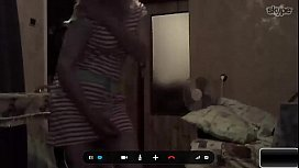 Russian mother dances naked...