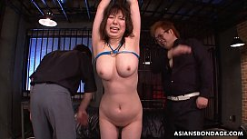 Naughty Kaoru Hirayama gets toyed and fingered by two perverts